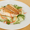 Pan-Roasted Florida Snapper with Minted Cucumber Ribbons